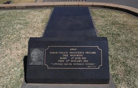 "Grave of Sarah Francesca ""Sally"" Mugabe, the first wife of Robert Mugabe and the First Lady of Zimbabwe, is seen at the National Heroes Acre in Harare"