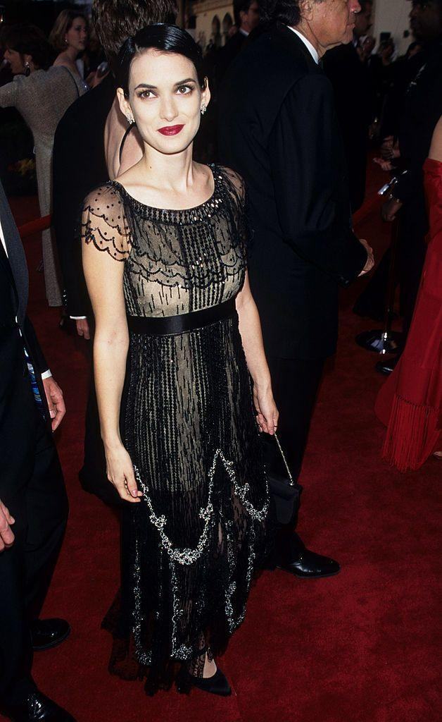 <p>Winona Ryder in Chanel, 1997</p>