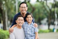 """<p>Get all the dads, grandpas, uncles, and other father figures in your life together (if it's safe to do so) and have an outdoor photoshoot. The whole family will love having these photos and looking back on them year after year. You can take some sentimental ones, and then bring in the <a href=""""https://www.amazon.com/Party-Photo-Booth-Props-Assembled/dp/B07BMG1MC7/ref=sr_1_4?tag=syn-yahoo-20&ascsubtag=%5Bartid%7C10070.g.2988%5Bsrc%7Cyahoo-us"""" rel=""""nofollow noopener"""" target=""""_blank"""" data-ylk=""""slk:photo booth props"""" class=""""link rapid-noclick-resp"""">photo booth props</a> for some goofy fun. </p>"""
