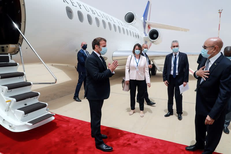 French President Emmanuel Macron and his EU counterparts meet leaders of West African states in Nouakchott
