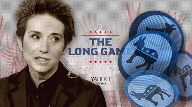 Amy Walter, national editor of the Cook Political Report. (Photo illustration: Yahoo News; photos: Tasos Katopodis/NBC via Getty Images, Shutterstock (6))