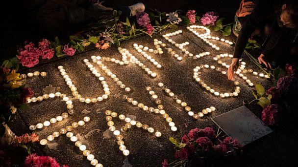 PHOTO: Protesters hold a vigil to honor Summer Taylor, who died after being hit by a car during a recent protest, on July 5, 2020 in Seattle. (David Ryder/Getty Images)