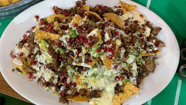 PHOTO: Chef George Duran's spiced lamb nachos that he made on 'Good Morning America.' (ABC News)