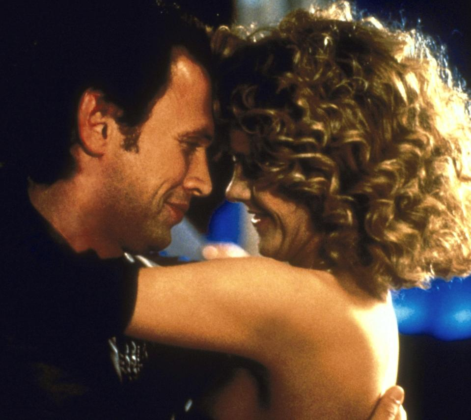 "<p>Give me any Nora Ephron movie to watch, and I'll be happy. But, give me <em>When Harry Met Sally</em>, and I'll be overjoyed. The chemistry between Meg Ryan and Billy Crystal! The iconic shots of New York City! The oversized blazers, chunky sweaters, and high-waisted pants! This movie always feels like a warm cup of coffee on the first cold morning of fall, and I could watch it any day of the year. — <em>MH</em></p> <p><a href=""https://www.amazon.com/When-Harry-Sally-Billy-Crystal/dp/B001Q556QG"" rel=""nofollow noopener"" target=""_blank"" data-ylk=""slk:Stream here"" class=""link rapid-noclick-resp""><em>Stream here</em></a></p>"