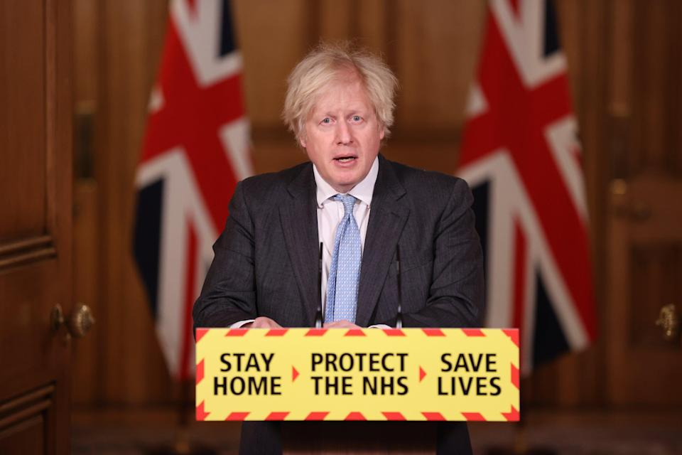 <p>Boris Johnson will address the nation about lifting lockdown on Monday at around 7pm</p> (Getty Images)