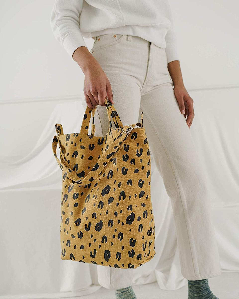 """<h3><a href=""""https://amzn.to/39HGcK3"""" rel=""""nofollow noopener"""" target=""""_blank"""" data-ylk=""""slk:BAGGU Duck Bag Canvas Tote"""" class=""""link rapid-noclick-resp"""">BAGGU Duck Bag Canvas Tote</a> </h3><br><strong>Cristina</strong><br><br><strong>How She Discovered It:</strong> """"I was searching for a new tote bag.""""<br><br><strong>Why It's A Hidden Gem:</strong> """"I love everything about it, the size, color and pattern, the material and the fact that as a tote bag, it's more robust and you can close it, so things don't drop out. It also comes in so many cool themes. """"<br><br><strong>Baggu</strong> Duck Bag Canvas Tote, Leopard, $, available at <a href=""""https://amzn.to/39HGcK3"""" rel=""""nofollow noopener"""" target=""""_blank"""" data-ylk=""""slk:Amazon"""" class=""""link rapid-noclick-resp"""">Amazon</a>"""