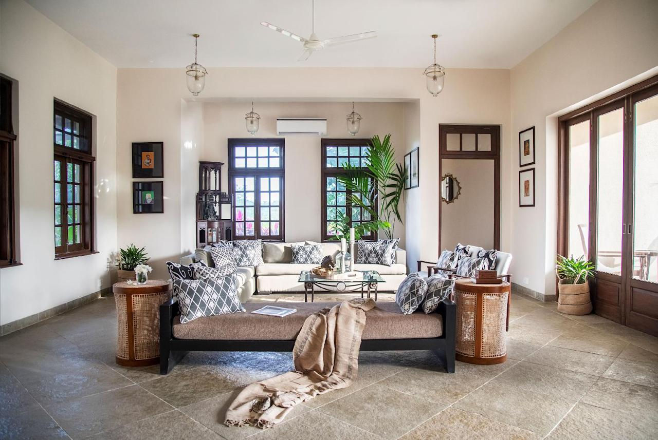 "Collaborating with a host of Indian and international designers, Isprava offers turn-key residences that boast vernacular aesthetics, traditional craftsmanship and restored antique furniture. ""To build our bespoke homes we have collaborated with renowned names such as Adil Ahmad, Qutub Mandviwala, Ana Saldanha and Spectrum Design Group,"" says Taparia. The homes also feature furniture from Gulmohar Lane, The Orange Lane, Essajees Atelier, and Studio Wodehouse among others. <em>Featured here, Villa Vérité, Alibaug.</em>"
