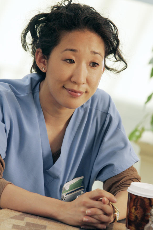 "<b>Sandra Oh</b> as Cristina Yang, ""Grey's Anatomy"" (2005-present)<br><br>Outstanding Supporting Actress in a Drama Series<br><br>0 wins, 5 consecutive nominations (2004-2009)"