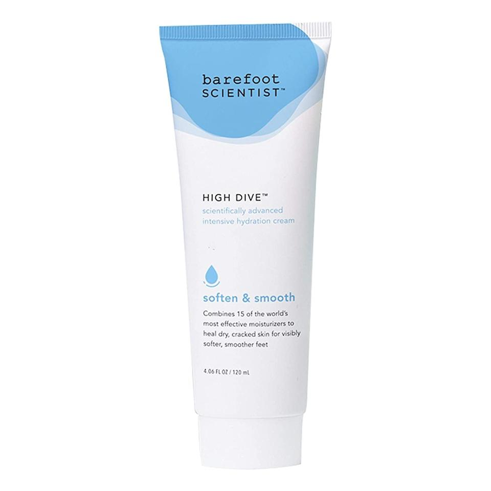 <p>Get your feet in tip top shape for sandal season with the <span>Barefoot Scientist High Dive Intensive Hydration Foot Therapy Cream</span> ($24).</p>