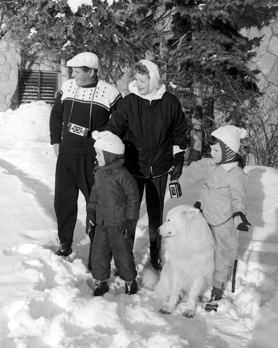 <p>The couple nailed the aprés ski look while spending the holidays in the snow with their two children. </p>