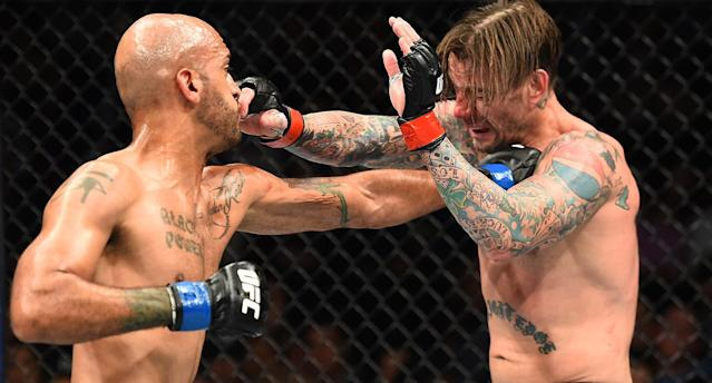 Mike Jackson (L) defeated CM Punk at UFC 225. (Getty Images)