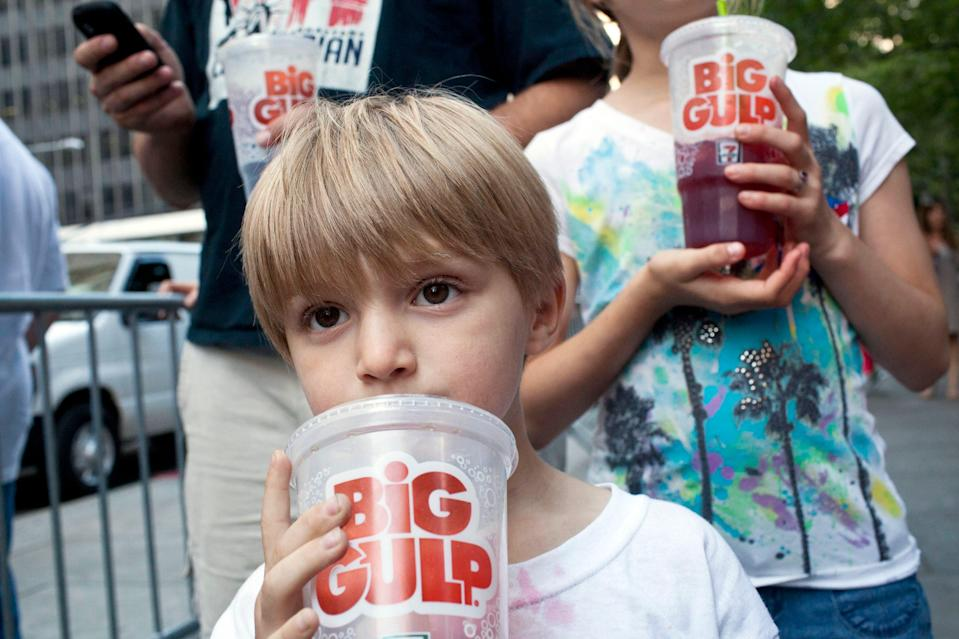 Hanks said he gave about enough plasma to fill up a 7-11 Big Gulp container.