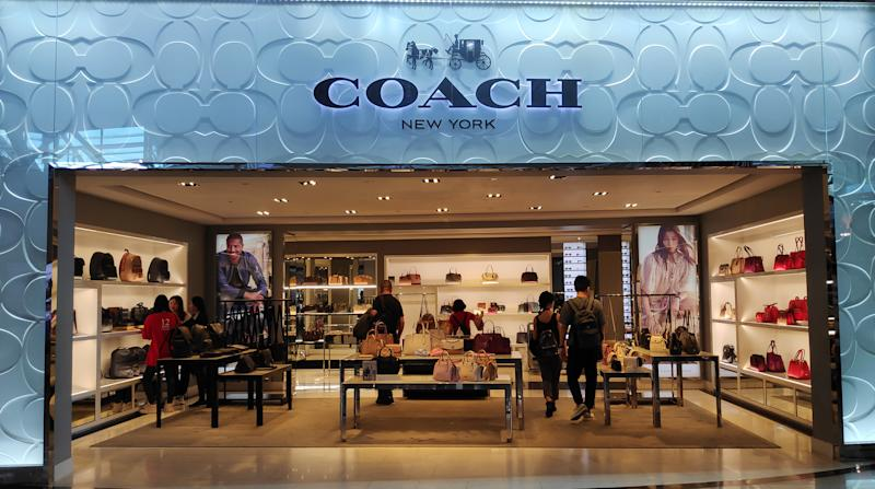 Coach shop after departure gate for international flight of Ngurah Rai International Airport, COACH is an New York City based luxury goods brand that produces jewelry fragrances accessories and handbags