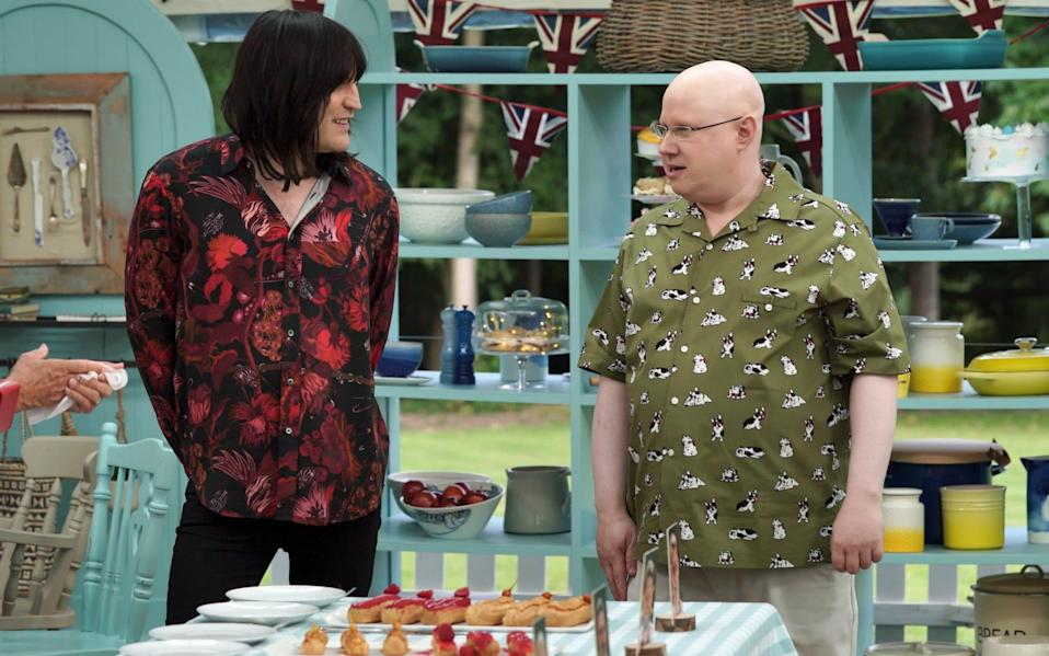 Noel Fielding is in his third series of Bake Off but is already being upstaged by newcomer Matt Lucas - Love Productions