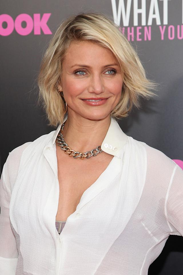 "Cameron Diaz attends the New York City premeire of ""What to Expect When You're Expecting"" on May 8, 2012."