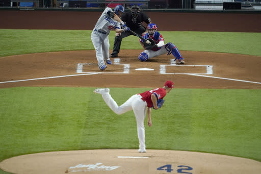 Dietrich HR sparks Rangers in 6-2 win over ML-best Dodgers
