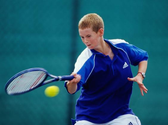 Murray at an Under-14s event in August 1999 (Getty)
