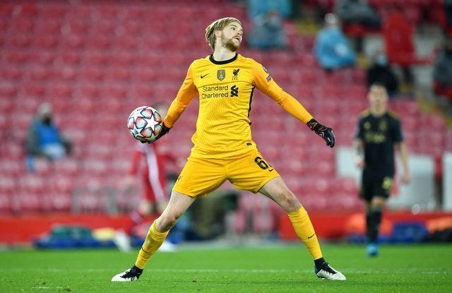 Liverpool goalkeeper Caoimhin Kelleher is in contention for his Premier League debut on Sunday