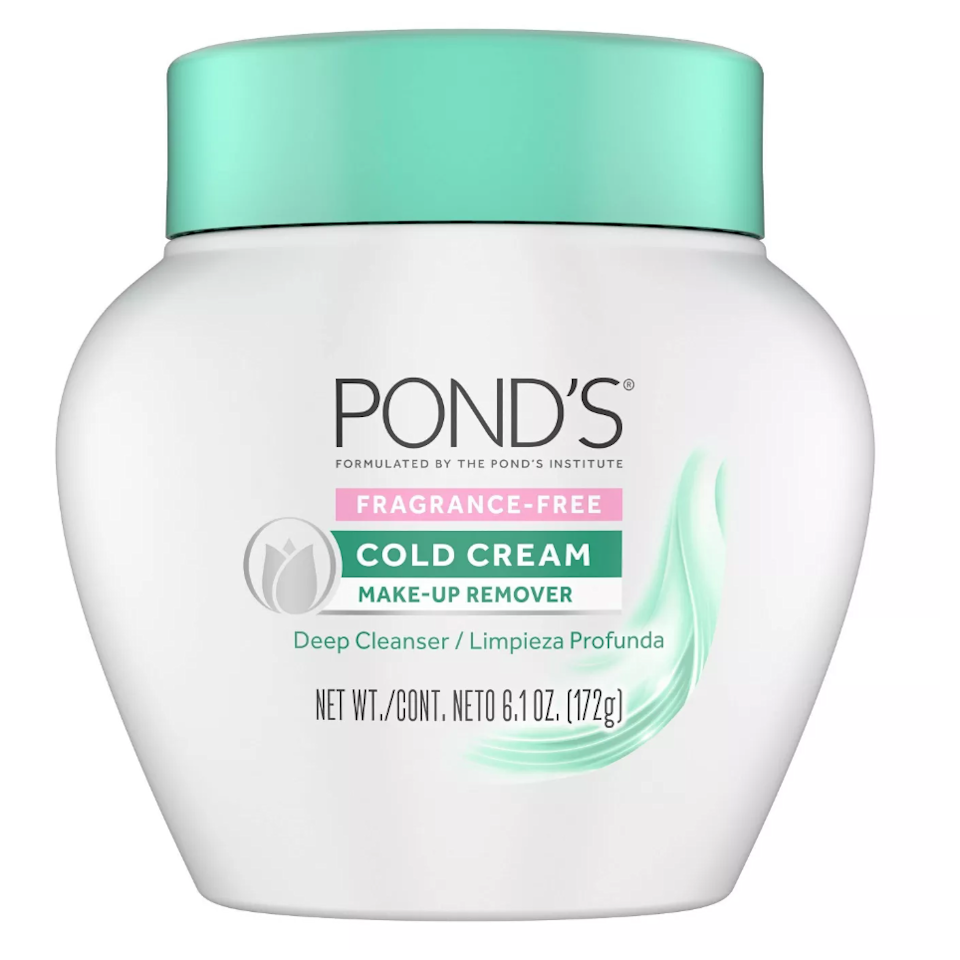 "<p>""This lightweight, hyaluronic acid-rich moisturizer absorbs quickly and doubles as a smoothing base for makeup."" — <em>Kat Suico, assistant beauty editor</em></p> <p><strong>$8</strong> (<a href=""https://www.target.com/p/pond-39-s-fragrance-free-cold-cream-make-up-remover-6-1oz/-/A-76596532"" rel=""nofollow"">Shop Now</a>)</p>"