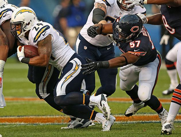 Lance Briggs says the NFL fined Jon Bostic $21K for his bone-rattling hit against San Diego