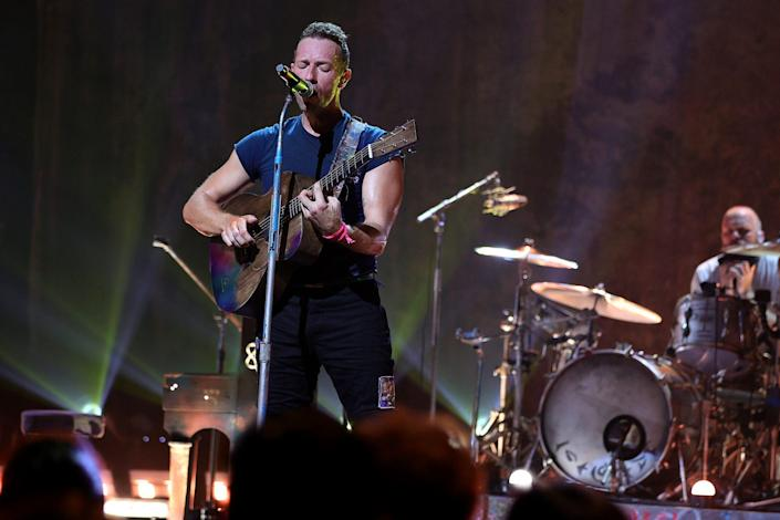 <p>Chris Martin and Coldplay take the stage at New York City's Apollo Theater for the SiriusXM and Pandora Small Stage Series on Sept. 23.</p>