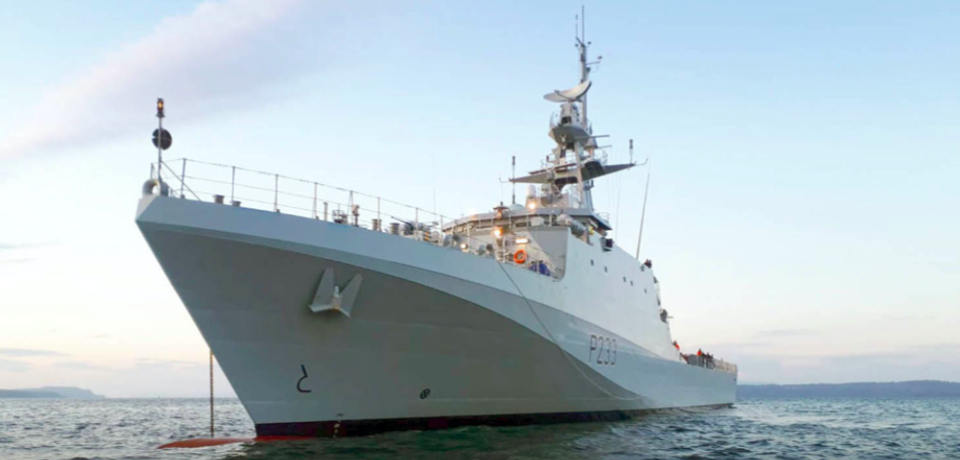 The primary roles of the vessel is to intercept drug-traffickers and smugglers. (Ministry of Defence)