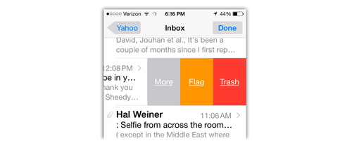 iOS 8 changes to Mail app