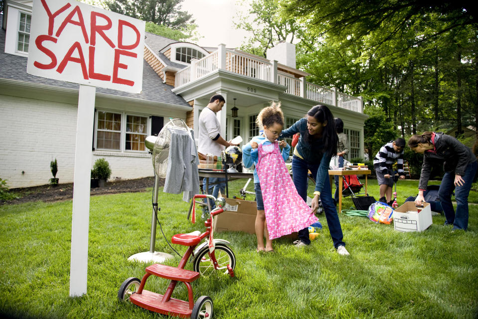Online marketplaces have replaced traditional yard sales and the go-to destination for second-hand goods. (Photo: Getty)
