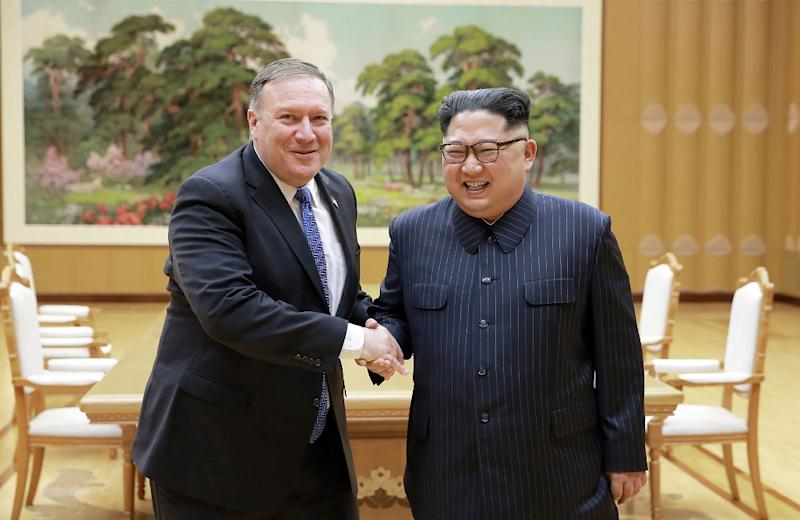 US Secretary of State Mike Pompeo left is preparing his fourth trip to North Korea where he will meet leader Kim Jong Un