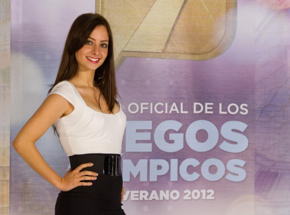 MEXICO CITY , MEXICO - JUNE 14: Model Yoseline Hoffman poses for a picture during the filming of the olympic spots at Azteca Novelas on June 14, 2012 Mexico City, Mexico. (Photo by Guillermo Angulo/Clasos.comLatinContent via Getty Images)