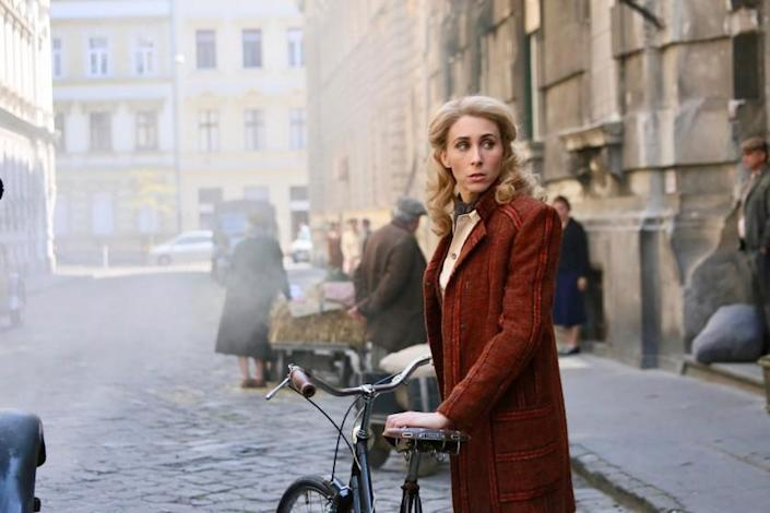 "Just like riding a bike: Sarah Megan Thomas wrote, produced and stars in the fact-based ""A Call to Spy."" Thomas plays Virginia Hall, one of the first female British spies stationed in Nazi-occupied France. <span class=""copyright"">(IFC Films)</span>"