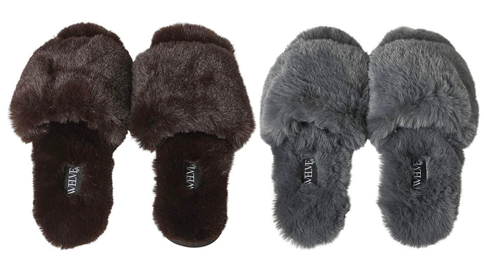 So Good Fluffy Slippers by Twelve AM Co. (Photo: Amazon)