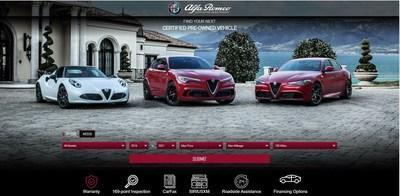 The alfaromeousacertified.com website allows customers to locate, research and purchase a certified pre-owned vehicle, all from the comfort of their home.