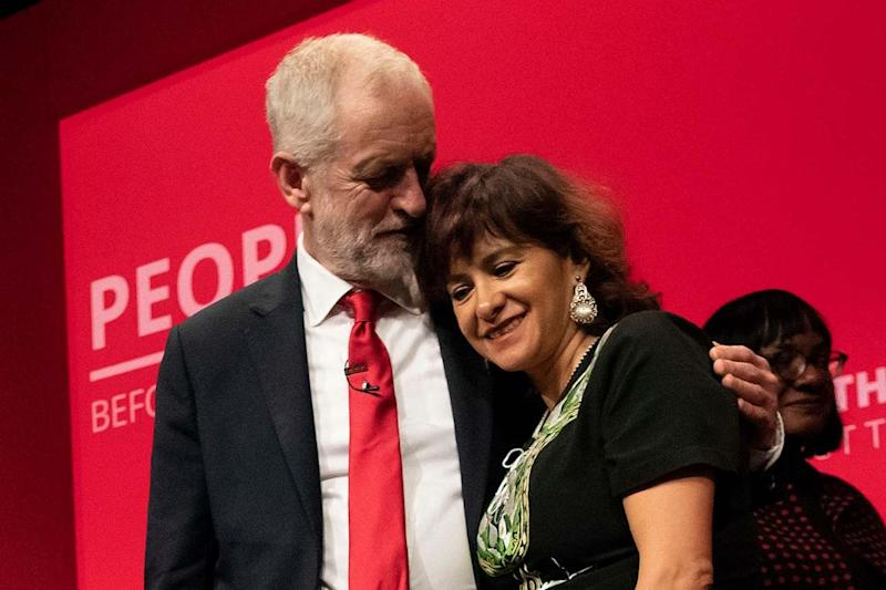 Jeremy Corbyn with his wife Laura at this year's Labour Party conference: Christopher Pledger /eyevine