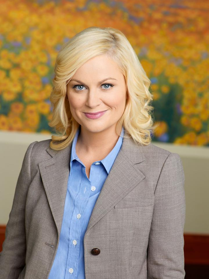"Amy Poehler as Leslie Knope in NBC's ""Parks and Recreation."""