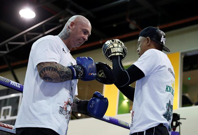 Boxing - Dillian Whyte & Lucas Browne Media Work-Outs - The Third Space, London, Britain - March 20, 2018 Lucas Browne during his work out Action Images via Reuters/Andrew Couldridge