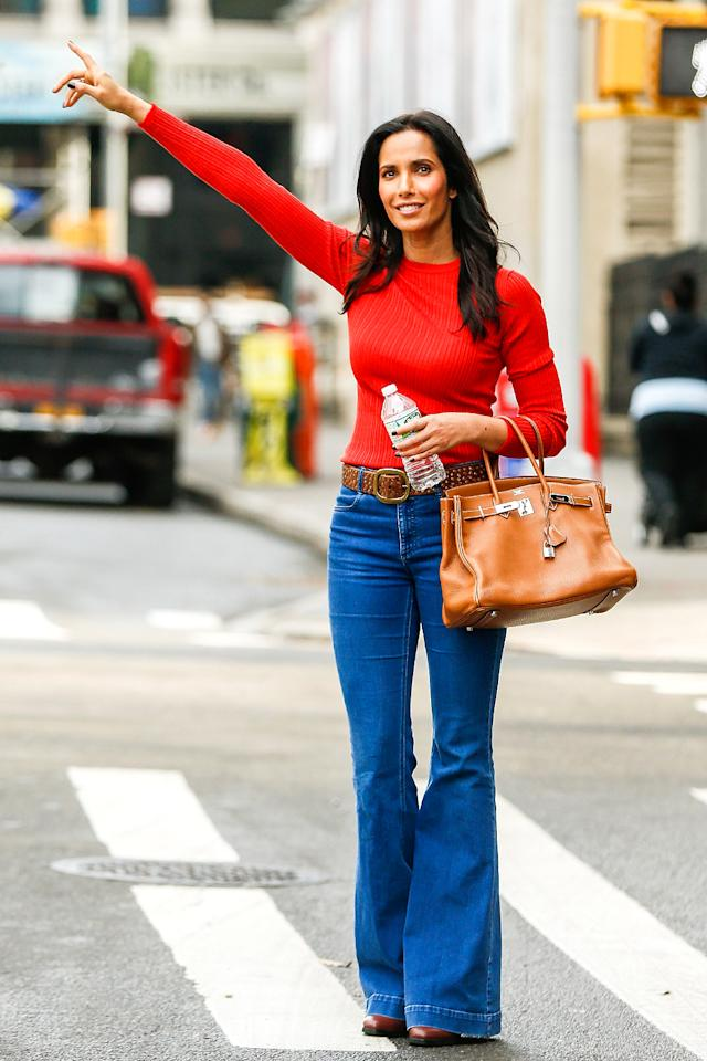 <p>How many seconds do you think it took stylish <i>Top Chef</i> host Padma Lakshmi to get a cab in New York? (Photo: AKM-GSI) </p>