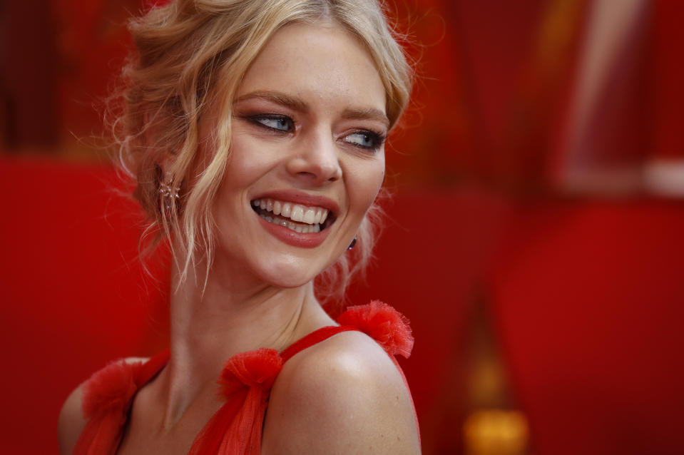 90th Academy Awards - Oscars Arrivals - Hollywood, California, U.S., 04/03/2018 - Samara Weaving wears Schiaparelli. REUTERS/Carlo Allegri