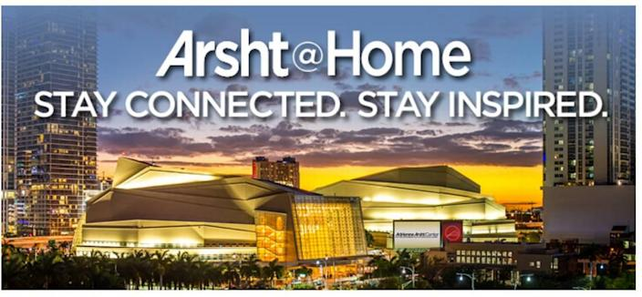 Screen grab from the website of the Arsht Center for the Performing Arts. Throughout the pandemic, the Arsht has stayed connected with audiences through a broad range of online offerings through its Arsht@Home series.