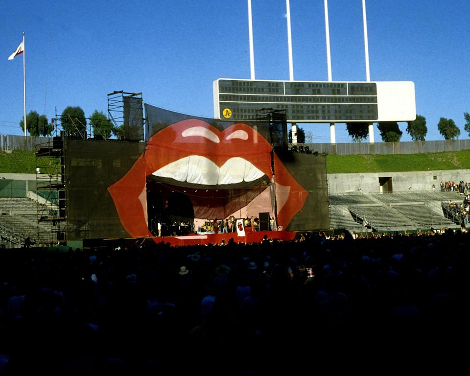 OAKLAND -  JULY 26:  The Rolling Stones perform at the Oakland Colisieum in Oakland, California on July 26, 1978. (Photo by Larry Hulst/Michael Ochs Archives/Getty Images)