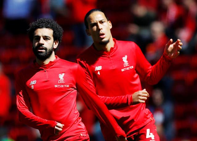 Mohamed Salah (left) and Virgil van Dijk helped put together the third-greatest Premier League season in its 27-year history, and Liverpool still couldn't win the title. (Reuters)
