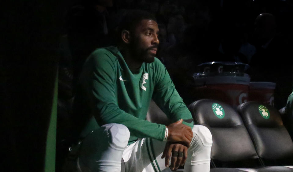 The Celtics will reportedly have to soldier on without All-Star playmaker Kyrie Irving for the rest of the 2017-18 season and playoffs.