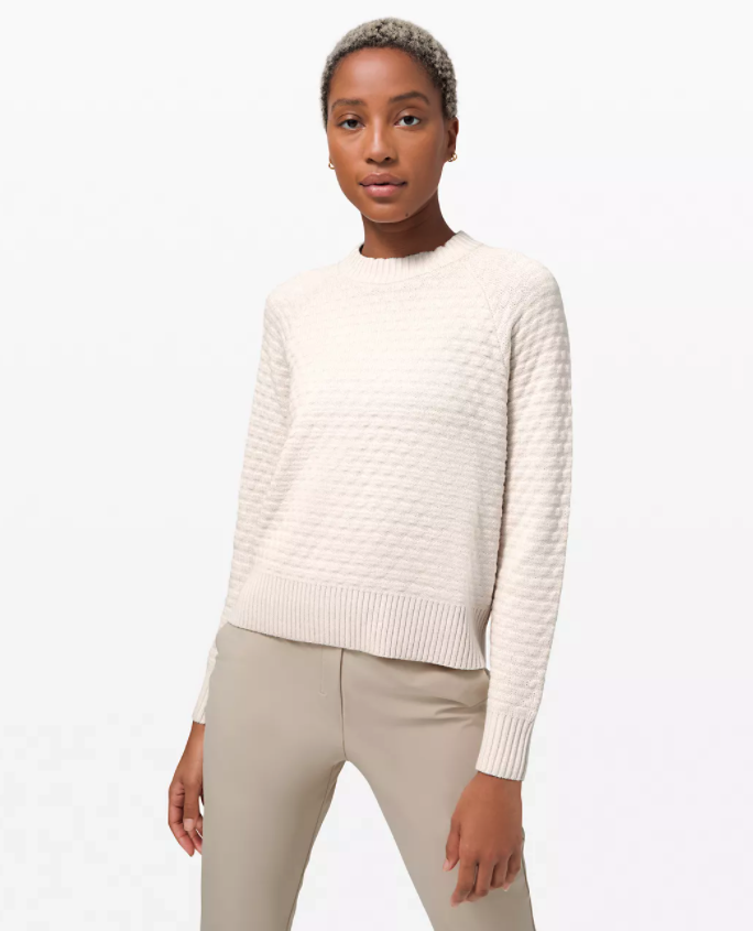 Texture Play Crew Sweater. Image via Lululemon.