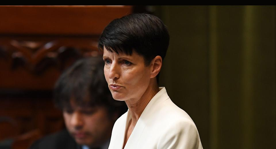 The Member for Port Stephens, Kate Washington speaks at State Parliament in Sydney, Wednesday, August 7, 2019. Source: AAP
