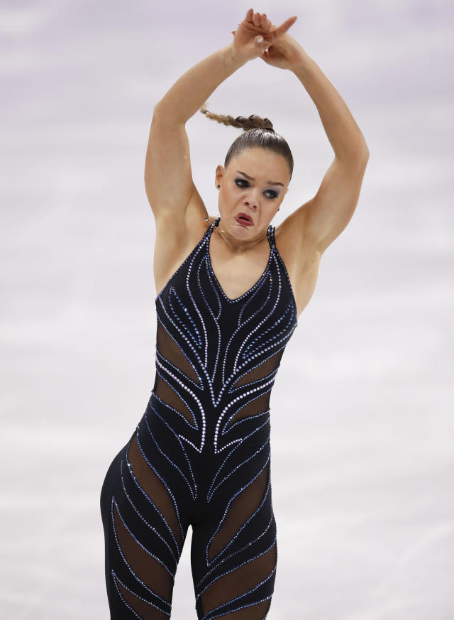 <p>Loena Hendrickx of Belgium competes during the Ladies Single Skating Short Program on day twelve of the PyeongChang 2018 Winter Olympic Games at Gangneung Ice Arena on February 21, 2018 in Gangneung, South Korea. (Photo by XIN LI/Getty Images) </p>