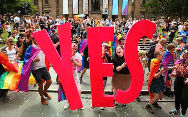 The celebration at the State Library of Victoria in Melbourne.