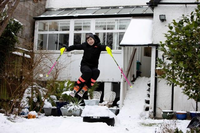Eddie 'The Eagle' Edwards has backed schoolboy skiing ace George Brown in his bid for future Winter Olympic glory