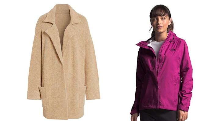 These sales extend to fashion-forward frocks to insulated, weather-proof coats.