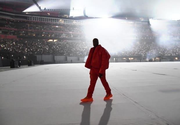 Kanye West is pictured during a listening party, for his new album Donda, at Mercedes-Benz Stadium on July 22, in Atlanta, Ga.  (Getty Images for Universal Music - image credit)