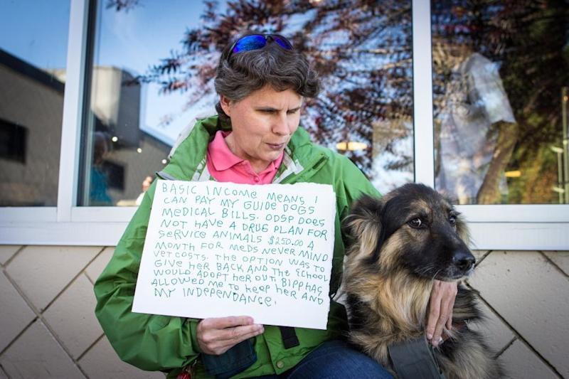 """""""Basic income means I can pay my guide dog's medical bills."""""""